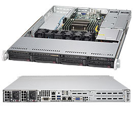 Серверная платформа Supermicro SuperServer 1U 6019P-MTR noCPU(2)Scalable/TDP 70-140W/ no DIMM