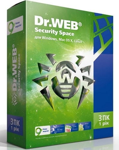 Dr.WEB Security Space 3 ПК / 1 год