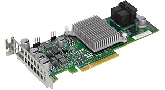 Контроллер Supermicro AOC-S3108L-H8IR 8 ports, 12Gb/s per port, 8 Internal, LP/FH, 240 SATA/SAS