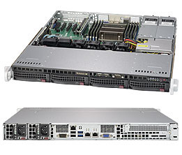 Серверная платформа Supermicro SuperServer 1U 5018R-MR no CPU(1) E5-2600/1600v3/v4 no memory(8)