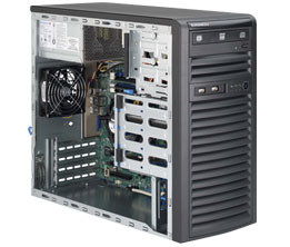 Серверная платформа Supermicro SuperServer Mid-Tower 5039D-i CPU(1) E3-1200v5/ noHS/ no memory(4)
